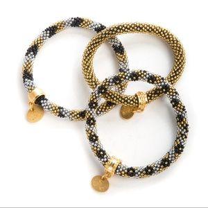 NIB Mackenzie Childs beaded bracelets set